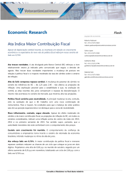 Economic Research - Votorantim Corretora