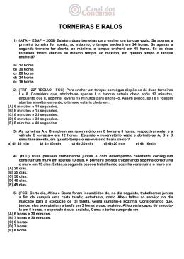 TORNEIRAS E RALOS - Canal dos Concursos