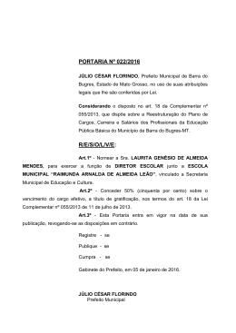 Prefeitura Municipal de Barra do Bugres