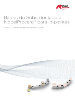 NobelProcera Implant bar overdenture brochure