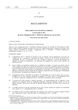 REGULAMENTO (UE) 2015/ 1039 DA COMISSÃO