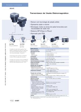 102 Transmissor de Vazão Eletromagnético