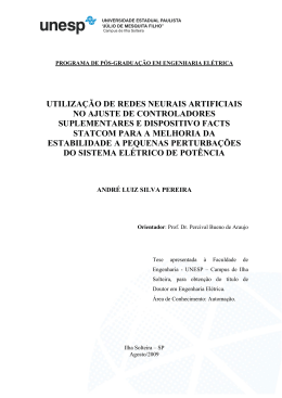UTILIZAÇÃO DE REDES NEURAIS ARTIFICIAIS NO