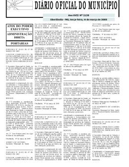 Edição 2139 - Prefeitura Municipal de Uberlândia