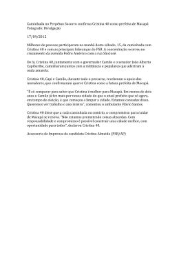 Caminhada no Perpétuo Socorro confirma Cristina 40 como prefeita