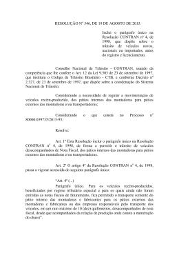 RESOLUÇÃO No 546, DE 19 DE AGOSTO DE 2015