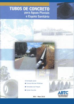 Tubos de Concreto para Águas Pluviais e Esgoto Sanitário