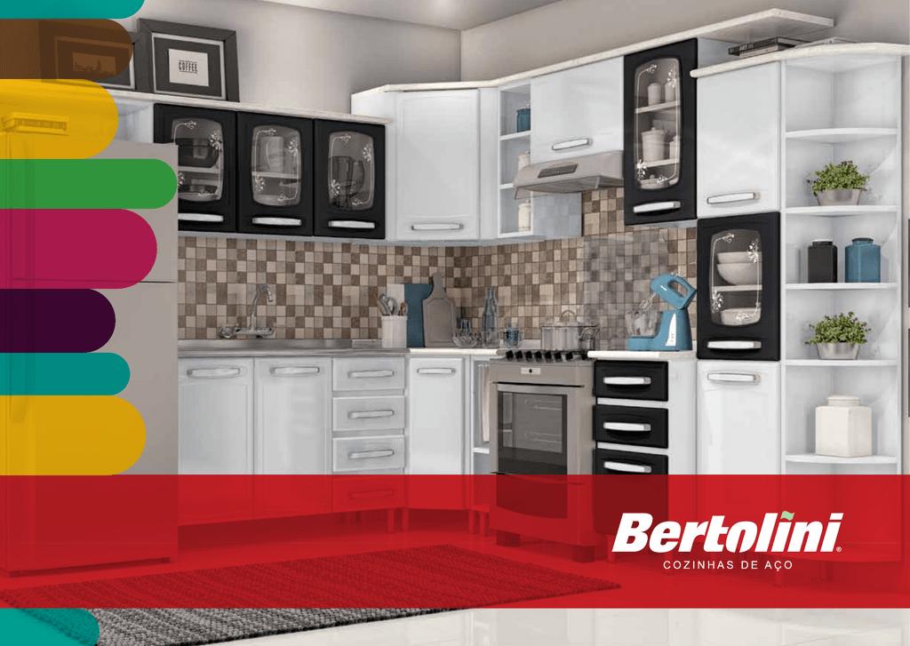 melhor cozinha de aço do Brasil. Bertolini #C29109 1831 1300