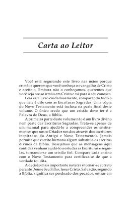Carta ao Leitor - Biblecourses.com