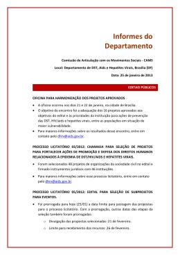 PDF 461 KB - Departamento de DST, Aids e Hepatites Virais