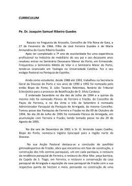CURRICULUM Pe. Dr. Joaquim Samuel Ribeiro Guedes