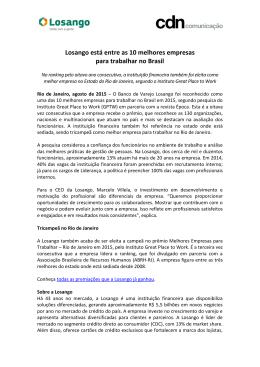 Losango está entre as 10 melhores empresas para trabalhar no Brasil