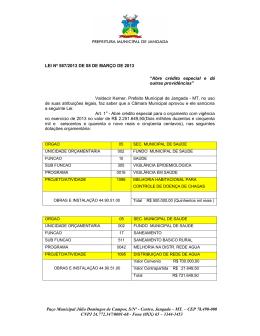 Paço Municipal Júlio Domingos de Campos, S/Nº