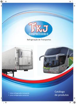 catálogo de peças e compressores