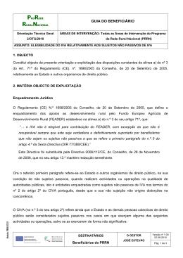 GUIA DO BENEFICIÁRIO - Programa para a Rede Rural Nacional