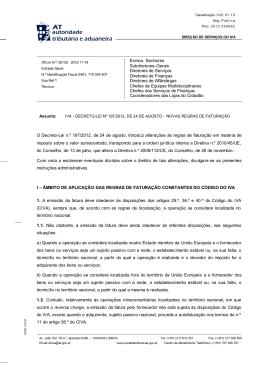 Ofício circulado 30136 de 19-11-2012