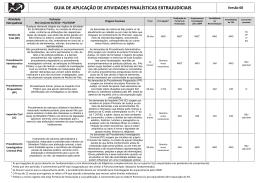 guia de aplicação de atividades finalísticas extrajudiciais