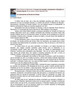 Álvaro Pereira do Nascimento, A ressaca da - Cecult