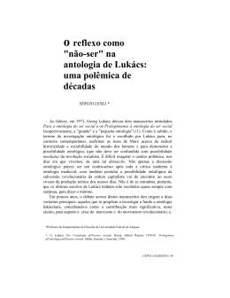 """O reflexo como """"não-ser"""" - Instituto de Filosofia e Ciências Humanas"""