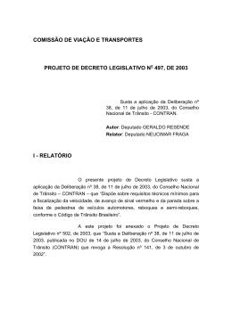 comissão de viação e transportes projeto de decreto legislativo n