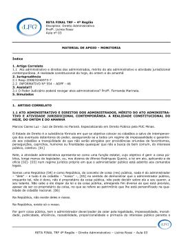 RETA FINAL TRF 4ª Região – Direito Administrativo – Licínia Rossi