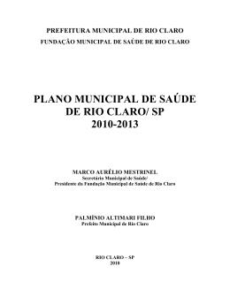 (PMS 2010 2013 - Versão Final) - Fundação Municipal de Saúde de