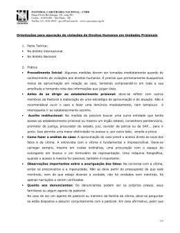 Orientações para apuração de violação de direitos humanos