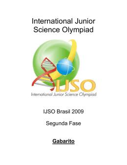 Gabarito - IJSO Brasil