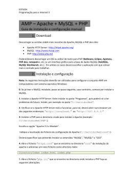 AMP – Apache + MySQL + PHP .