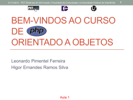 Introdução a programação Web - PET-SI UFU