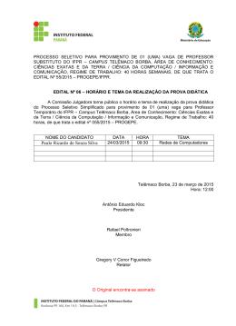 Paulo Ricardo de Souza Silva - Campus Telêmaco Borba