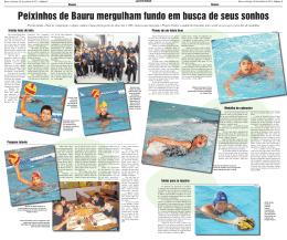 Peixinhos de Bauru mergulham fundo em busca de seus sonhos