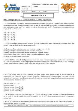 Obs: Entregar apenas os cálculos escritos de forma organizada.