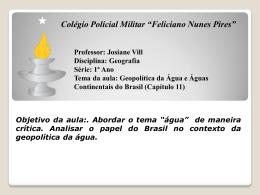 Bacias Hidrográficas - Colégio Policial Militar Feliciano Nunes Pires