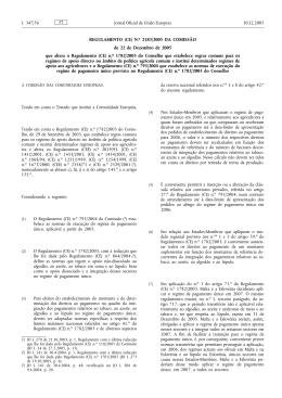 REGULAMENTO (CE) N.o 2183/2005 DA COMISSÃO de
