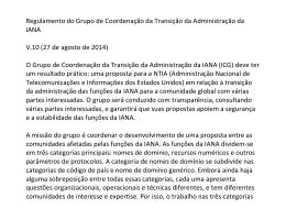 Regulamento do Grupo de Coordenação da Transição da