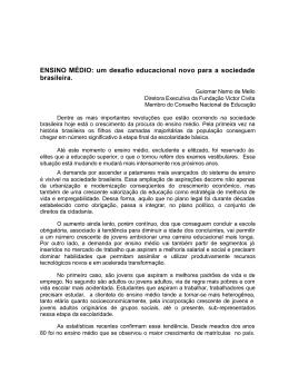 ENSINO MÉDIO - Guiomar Namo de Mello