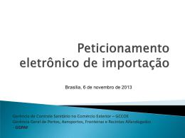 Peticionamento Eletrônico de Importação