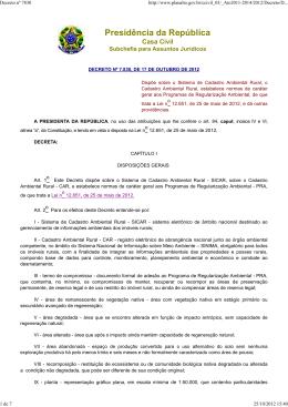 decreto nº 7.830, de 17 de outubro de 2012