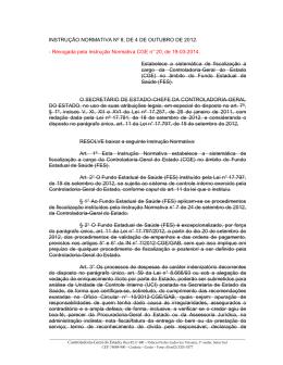 INSTRUÇÃO NORMATIVA Nº 8, DE 4 DE OUTUBRO DE 2012