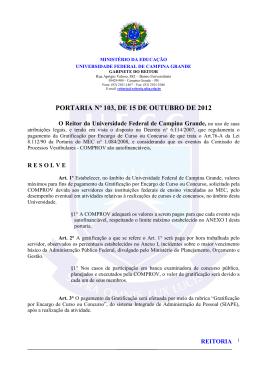 portaria nº 103, de 15 de outubro de 2012