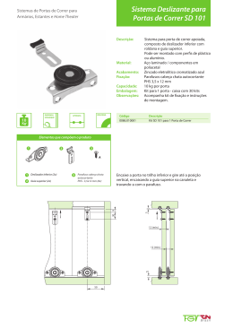Sistema Deslizante para Portas de Correr SD 151