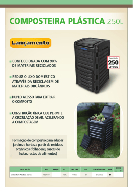 Composteira plástiCa 250L