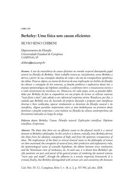 Berkeley: Uma física sem causas eficientes