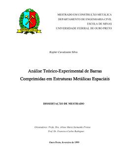 Análise Teórico-Experimental de Barras Comprimidas em Estruturas