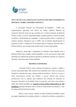 NOTA TÉCNICA DA ASSOCIAÇÃO NACIONAL DOS