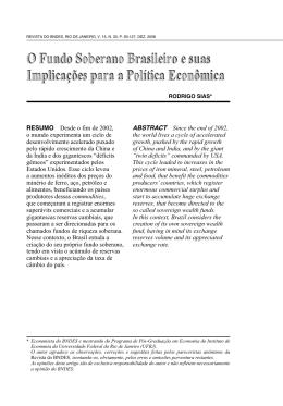 O Fundo Soberano Brasileiro e suas Implicações para a
