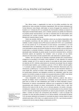 OS LIMITES DA ATUAL POLÍTICA ECONÔMICA