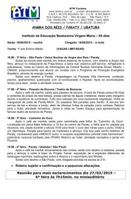 ANGRA DOS REIS / PARATY / UBATUBA Instituto de Educação