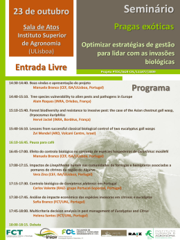 Programa - Instituto Superior de Agronomia
